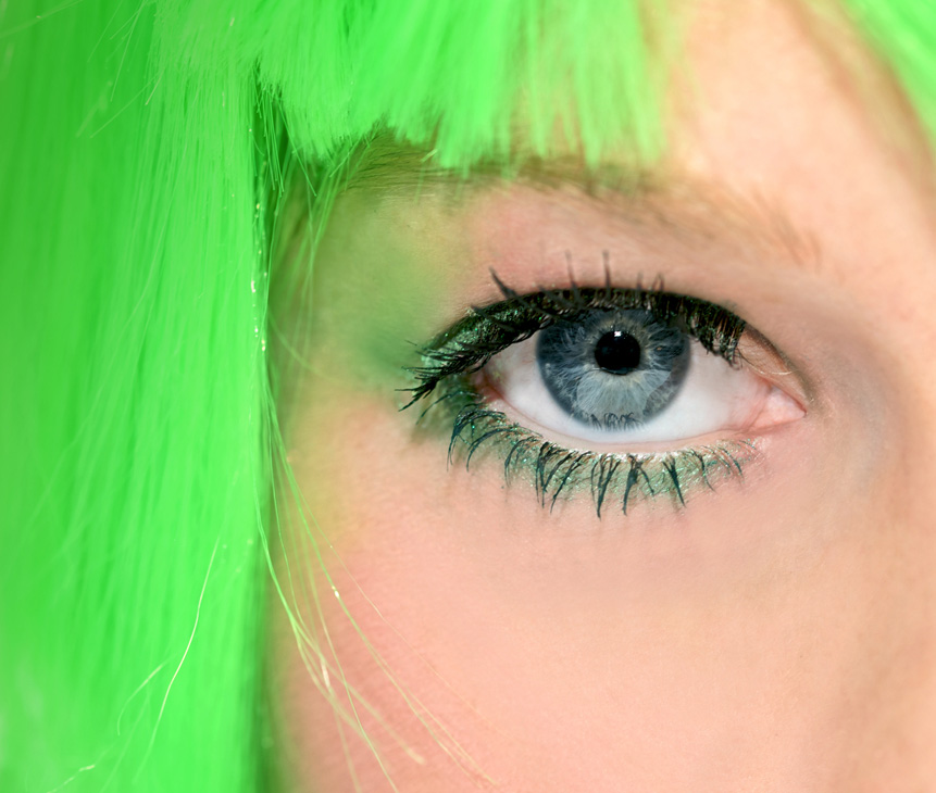 Por su pelo verde