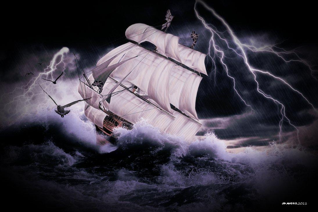 Un barco en la correcta posición