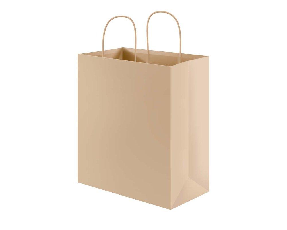 ¿Qué hay detrás de la bolsa de papel?