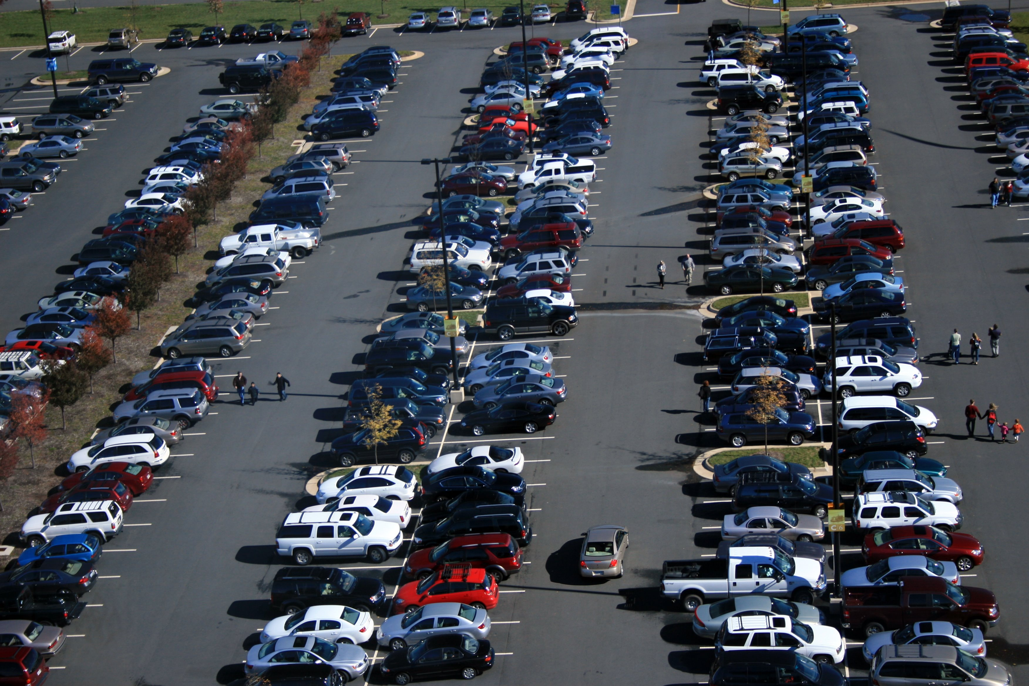 Parqueo congestionado