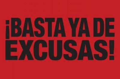 ¡Basta ya de excusas!