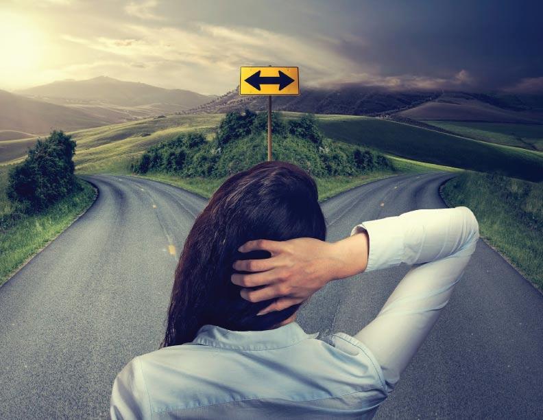¿Por cuál camino decidirás caminar?