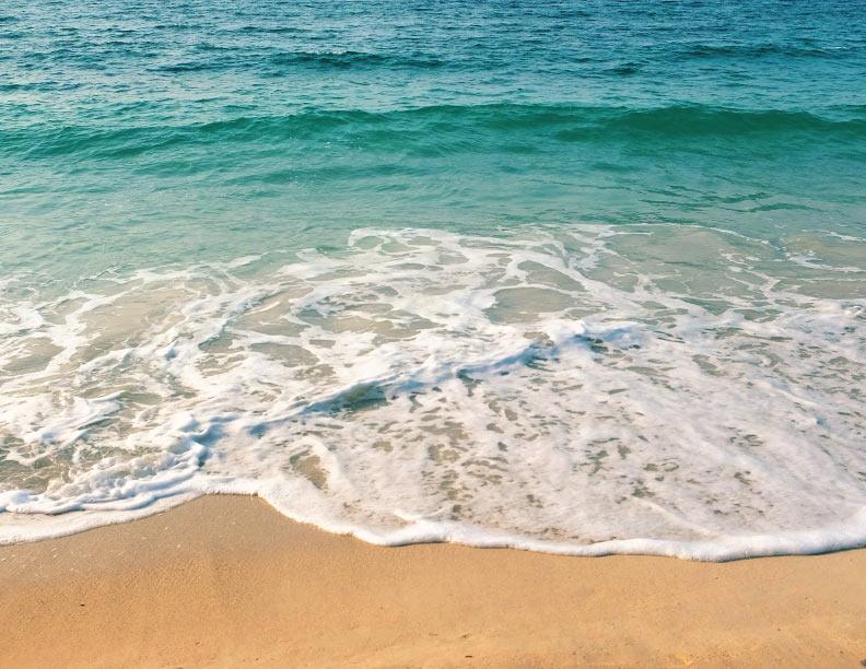 ¡Cuál la mar hermosa!