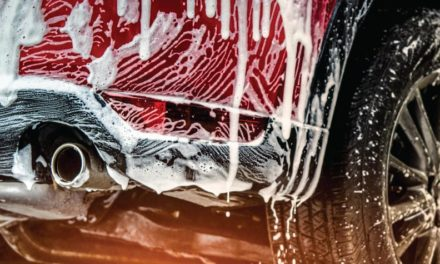 En el lavadero de autos