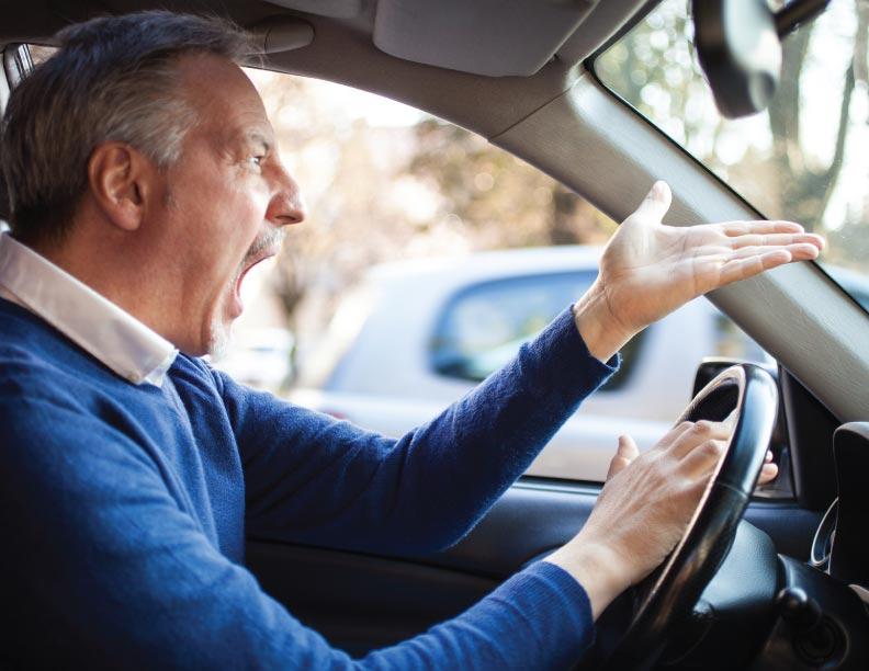 Un conductor descuidado