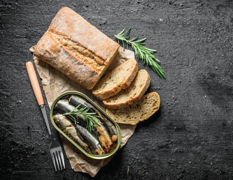 Como sardinas