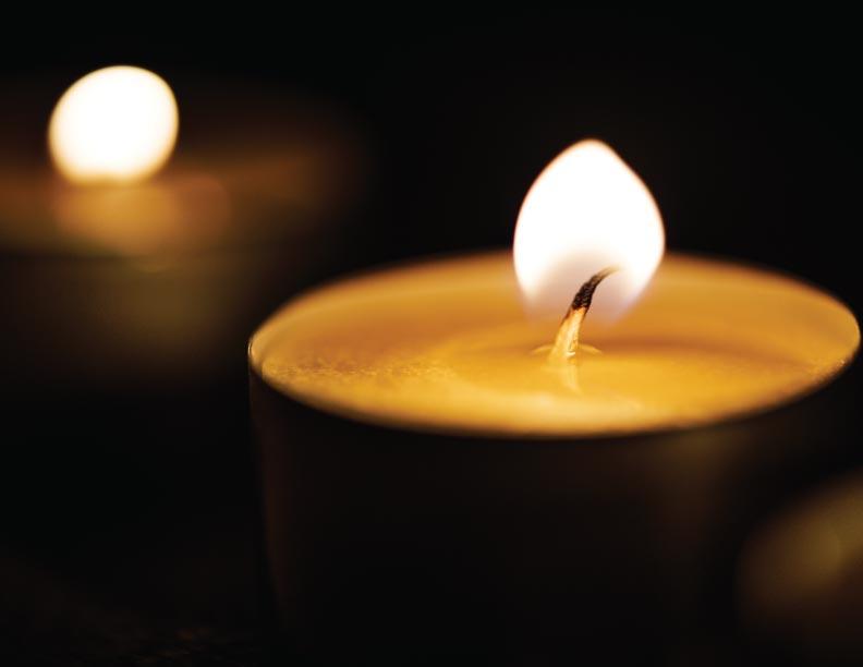 Como la llama de una vela